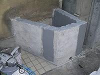 花壇の下地調整/左官工事