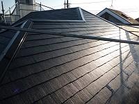 カラーベスト屋根塗装:水性フッソ:テスト施工